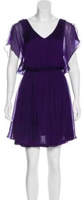Alice + Olivia Cap Sleeve Silk Dress