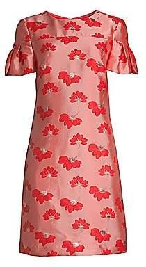 Trina Turk Women's Jacinta Floral Jacquard Sheath Dress