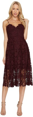 Donna Morgan - Chemical Lace Spaghetti Strap Midi Women's Dress $148 thestylecure.com