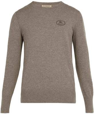 Burberry Malcolm logo-embroidered cashmere sweater