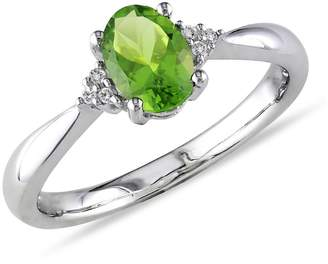Concerto 0.03 CT. T.W. Diamond Accent and Peridot Ring