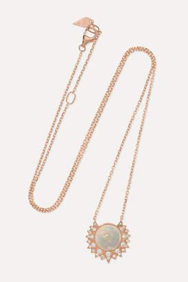 Piaget Sunlight 18-karat Rose Gold, Opal And Diamond Necklace - one size