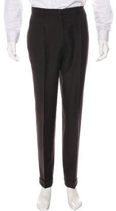 Burberry Wool Flat Front Pants