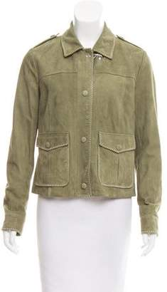 Fay Suede Button-Up Jacket w/ Tags