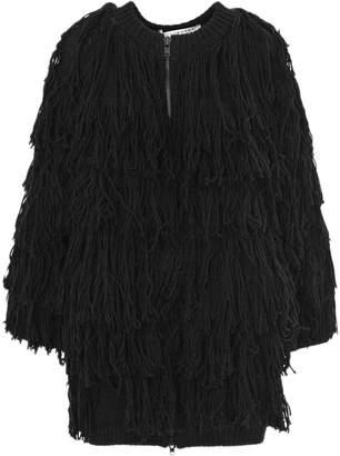 Philosophy di Lorenzo Serafini Black Virgin Wool Cardigan Jacket.