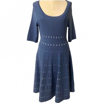 Adolfo Dominguez Blue Cotton - elasthane Dress for Women