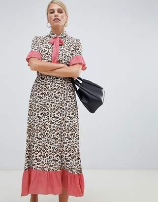 Vila printed retro midi dress