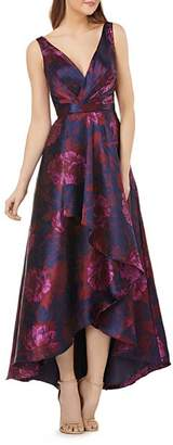 Carmen Marc Valvo High/Low Floral Ball Gown