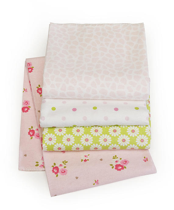 Carter's Wrap-Me-Up 4-Pack Receiving Blankets - Pink/Green Floral