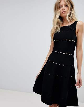 French Connection Knit Detail Midi Dress