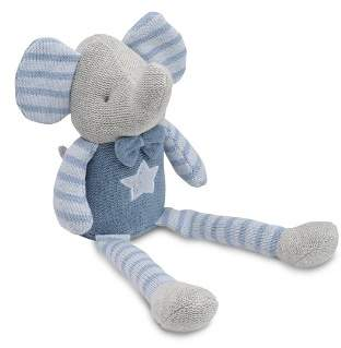 Elegant Baby Knit Elephant Blue
