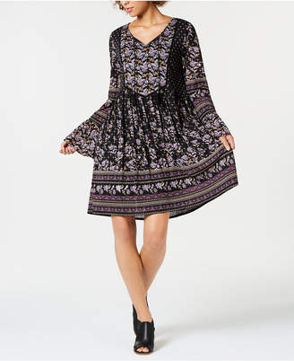 Style&Co. Style & Co Printed Fit & Flare Peasant Dress, created for Macy's