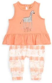 Jessica Simpson Baby Girl's Two-Piece Zebra Top and Printed Pants Set