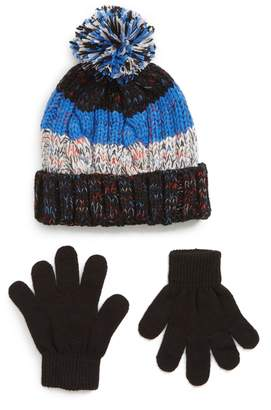 Capelli New York Space Dyed Hat & Gloves Set