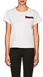 "Marc Jacobs Women's ""Love"" Embellished Cotton T-Shirt - White"