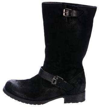 NDC Distressed Suede Mid-Calf Boots