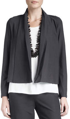 Eileen Fisher Washable-Stretch Crepe Short Jacket $188 thestylecure.com