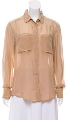 Alexander Wang Silk Button-Up Top