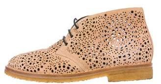 Alaia Laser-Cut Suede Boots