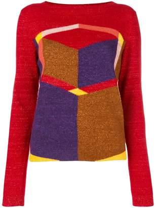 Bottega Veneta geometric patterned jumper