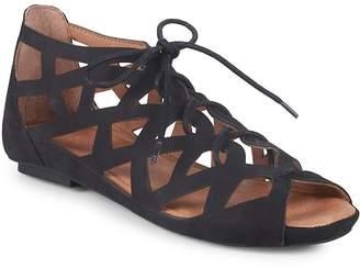 Gentle Souls Women's Brielle Lace-Up Leather Sandals