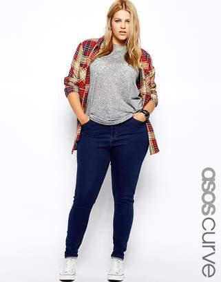 Asos Ridley Skinny Jean In Rich Blue