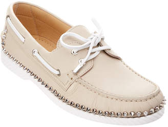 Christian Louboutin Steckel Leather Boat Shoe
