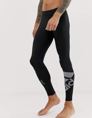 adidas Training logo tights in black