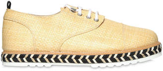 Lightweight Raffia Lace-Up Shoes