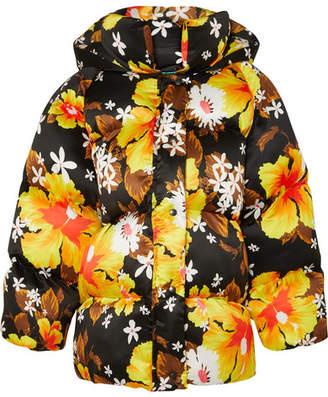 Richard Quinn - Oversized Floral-print Shell Jacket - Black