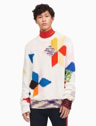 Calvin Klein summer quilt crewneck sweater