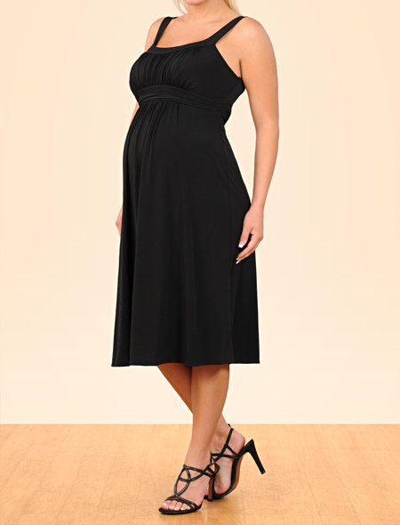 Spaghetti Strap Empire Waist Maternity Dress