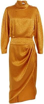 Ronny Kobo Kaira Leopard Jacquard Silk Dress