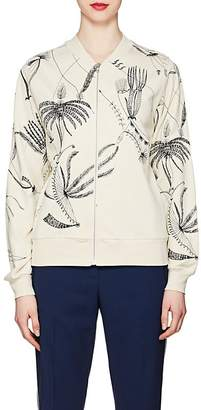 Dries Van Noten Women's Embroidered Cotton Bomber Jacket