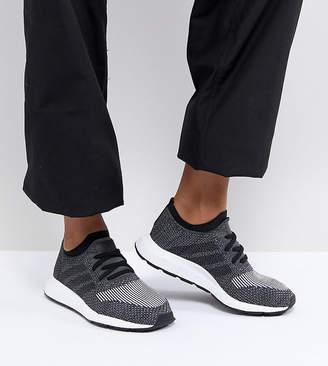 adidas Swift Run Primeknit Sneakers In Black