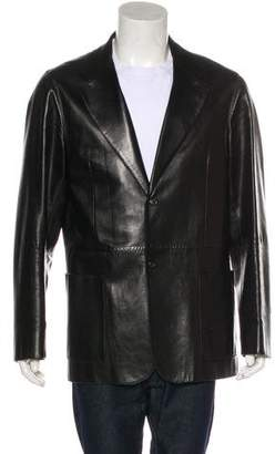 Prada Two-Button Leather Jacket