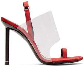 Alexander Wang Red Satin Kaia Heels