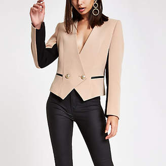 River Island Beige double-breasted blazer