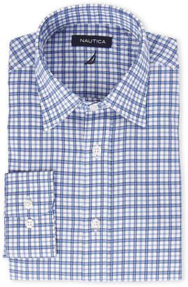 Nautica Blue Plaid Classic Stretch Shirt
