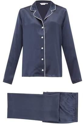 Derek Rose Bailey 1 Silk Satin Pyjamas - Womens - Navy