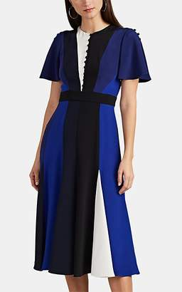 Prabal Gurung Women's Colorblocked Silk Dress - Black, Navy