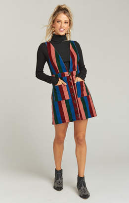Show Me Your Mumu Connelly Overall Dress ~ Mutown Stripe