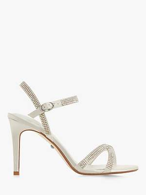 3045410f2b24a4 Dune Magikal Diamante Cross Front Stiletto Heel Sandals