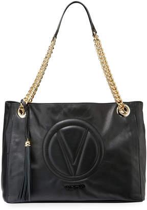 Mario Valentino Valentino By Verra Sauvage Leather Shoulder Tote Bag