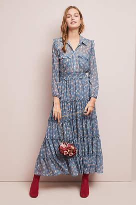 MISA Nadine Collared Maxi Dress