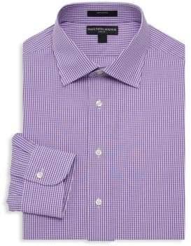 Saks Fifth Avenue Mini Gingham Print Dress Shirt