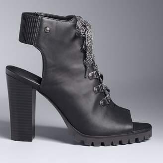 Vera Wang Simply Vera Shanghai Women's Peep Toe Ankle Boots