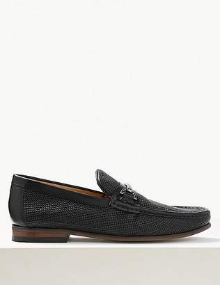 Marks and Spencer Leather Snaffle Slip-on Loafers