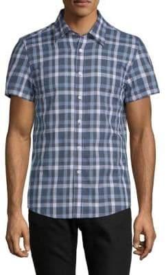 Hyden Yoo Tyler Short-Sleeve Cotton Button-Down Shirt