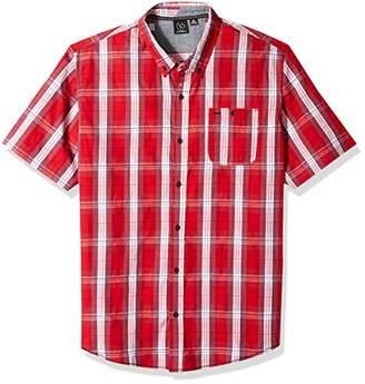 Burnside Men's Robertson Short Sleeve Button Up Textured Shirt